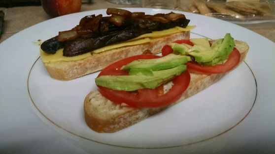 Portobello Mushroom Cap Vegan Sandwiches